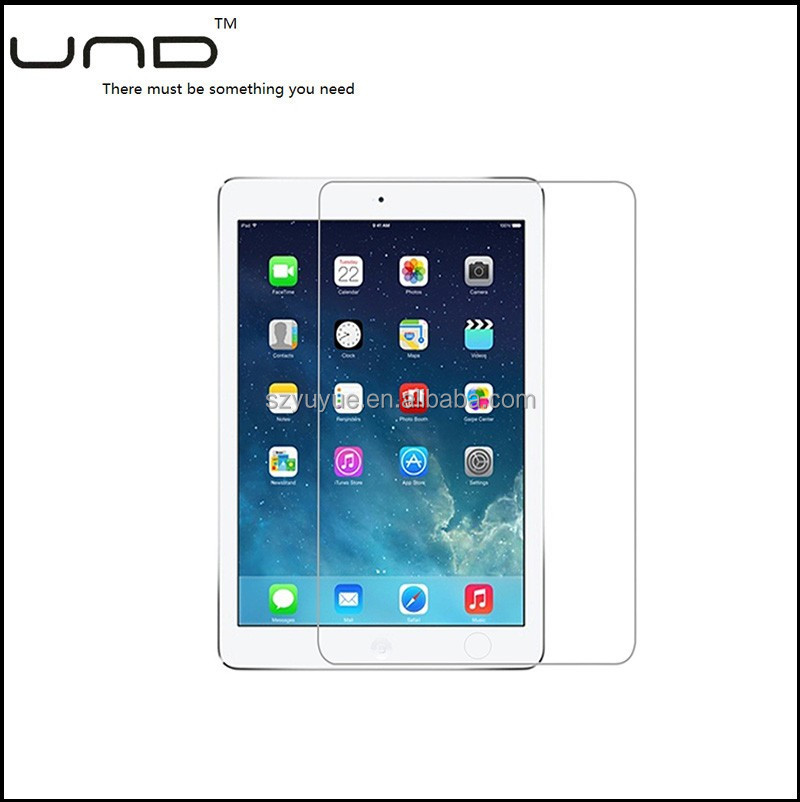 2017 9h anti-shock explosion-proof tempered glass screen protector for ipad 2/3/4