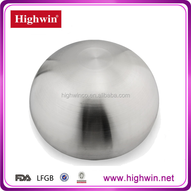 Highwin 75mm Lacquer Coated Single Wall Inox Bowl for Salad