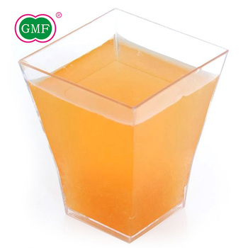 Popular clear square mini plastic dessert cups