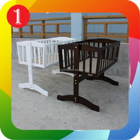 Solid Wood Wood Style and Crib Type wooden baby cradle
