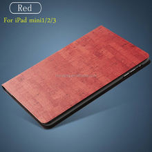 New Idea Rock Texture Pu Leather Smart Case for IpadMini123, Folio Stand Cover Case for Ipad Mini123