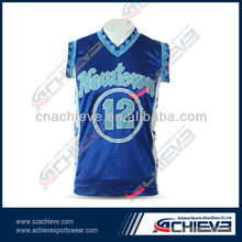 chinese new blue basketball shirts accessory