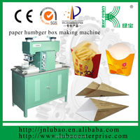 semi-auto french fries paper cone or bag making machine