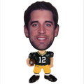 Custom NFL Aaron Rodgers Toy Green Bay Packers Flathlete bobblehead mini action figures/plastic small people bobblehead toy