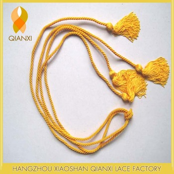 Bright Gold Honor Cords For Graduation