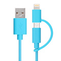 2 in 1 grey aluminum alloy for i6s usb data mfi approved usb cable