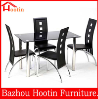 hot sale modern top grade expandable glass dining table
