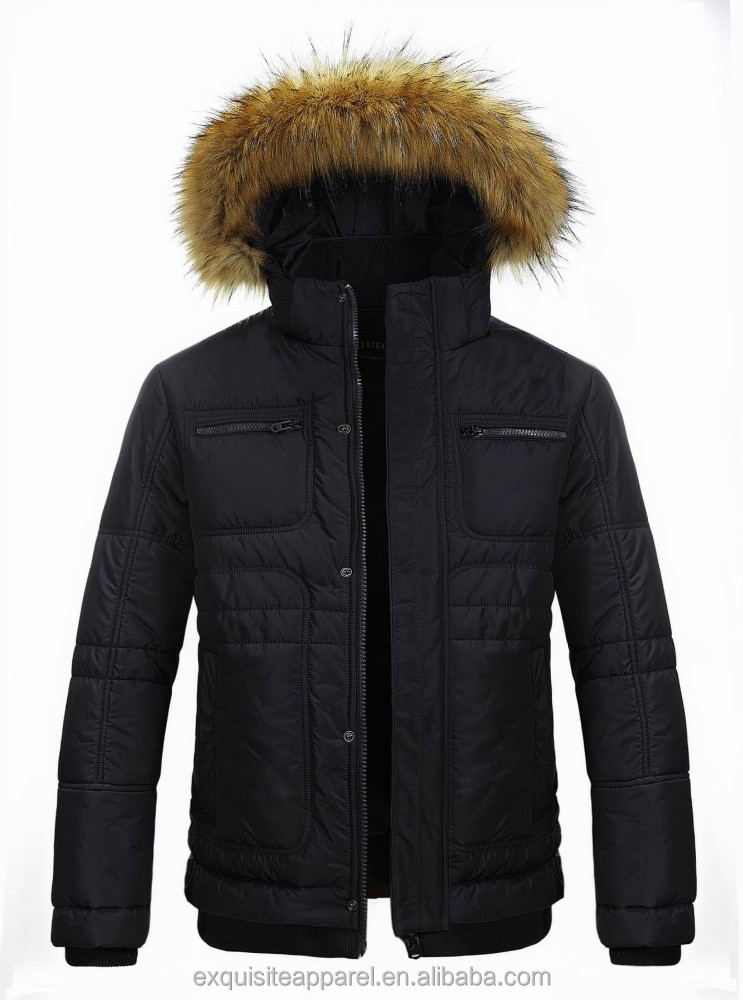 2015 top quality real fur winter coat for men extreme warm mens big fur collar coat