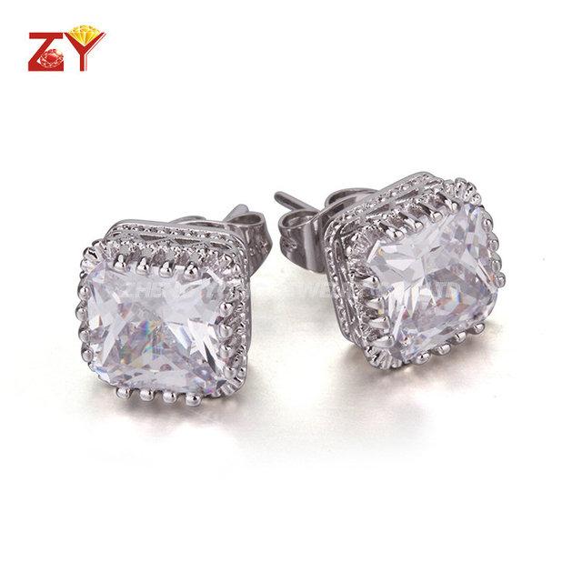 Plating Rhodium Wedding Earring for Women Fancy Stud Earring