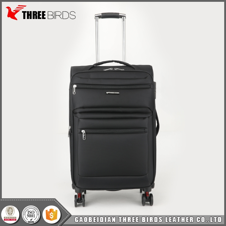 Factory direct new style ultra lightweight luggage with four wheels