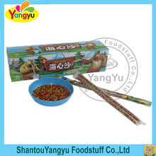 Very good taste sour powder magic straw with colorful water candy
