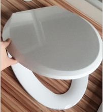 V shape plastic slow down toilet seat