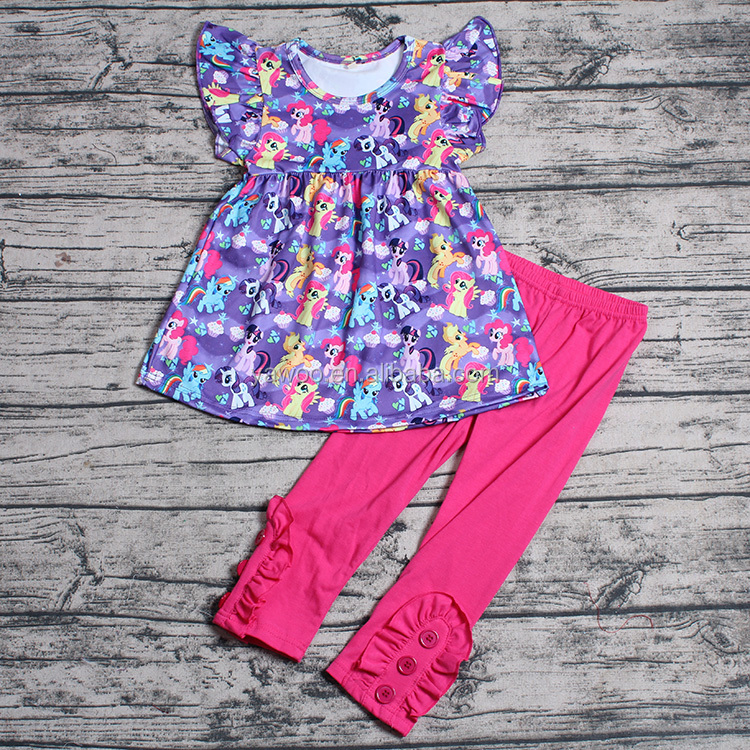 Yawoo new designs childrens clothes set wholesale children's boutique clothing usa