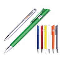 Hot-selling Promotional Plastic Ballpoint Pen with metal plated clip and nip