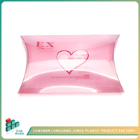 JUNDA Printed Custom Pink Heart Pillow Plastic PVC/PP Pillow Packing Boxes