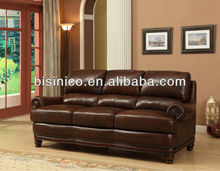 Noble brown sofa,leisure genuine leather sofa,living room furniture (BF01-20095)
