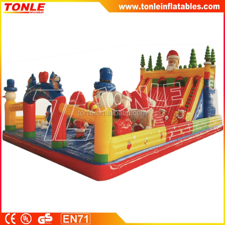 Giant Christmas Inflatable Slide/ Inflatable Playground for kids/ Santa Claus Inflatable Amusement Park