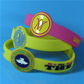 Watch Shape Custom Logo Engraved Ink Filled Silicone Wristbands