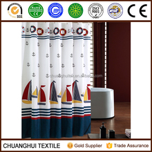 polyester British style printed pattern luxury shower curtain