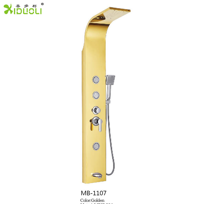 Classic Design Digital Laminate Shower Panel with Massaging Jet