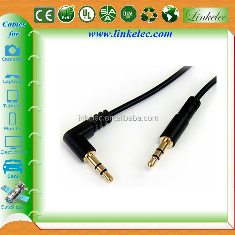 3.5mm audio cable male to male 4 pole jack gold-connector for mp3/speaker/computer