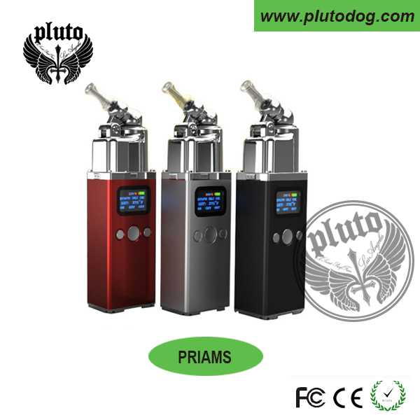 Newest Priams dry herb vaporizer 2016 With glass mouthpiece Fast Heating Max 450F 2016 dry herb vaporizers