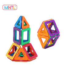 2017 Factory Supplier Hot Sales DIY Educational Toy for Kids ABS Plastic 3D Magnetic Blocks