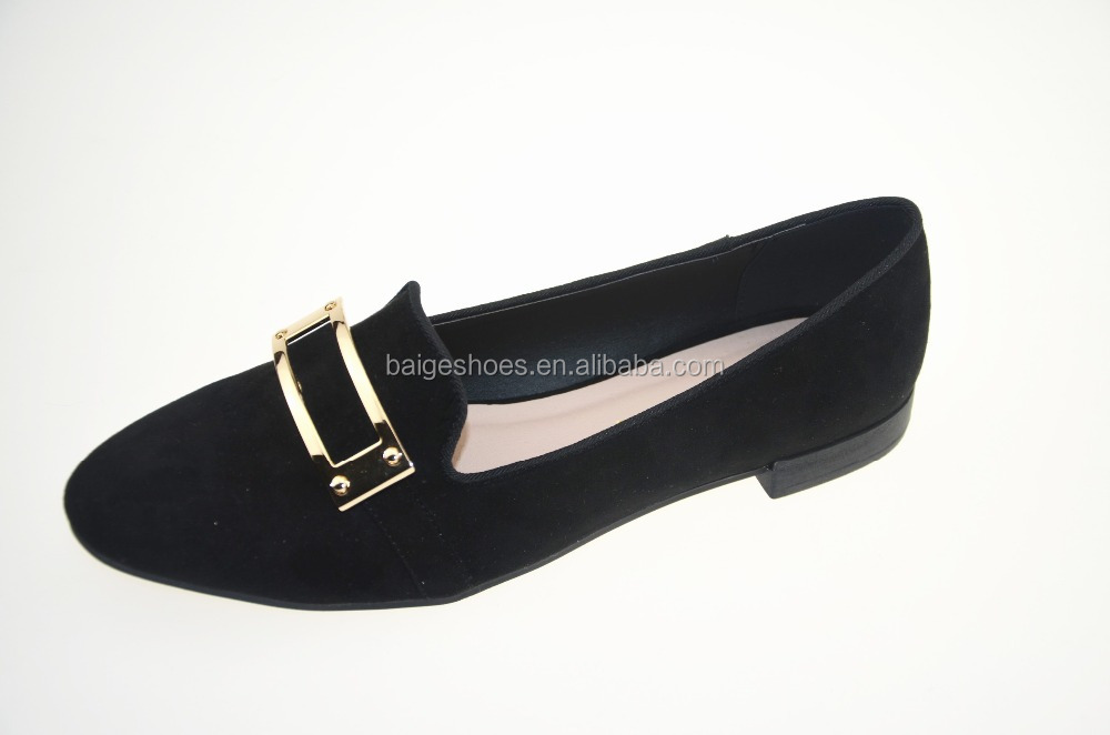 Latest design lady flat shoes,ladies' simple shoes office shoes