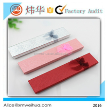 rectangle shaped fashion gift box with ribbon