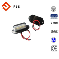 auto lamp,Xenon white E-mark Certification and LED Lamp Type Tail lamp, licence plate tag light