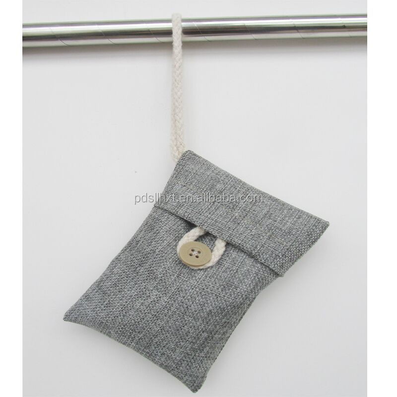 Feature Linen 100g air cleaner bamboo charcoal deodorizer bag for shoes and cars