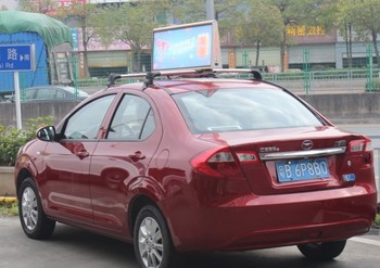 Outdoor taxi top 3G/wifi Wireless Taxi Roof LED Displays P5