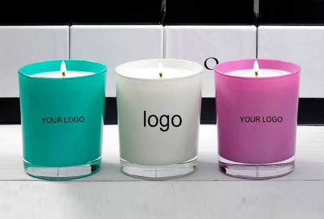Customized Cheap Price Frosted Candle Holder Colored