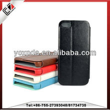 freely enjoy your movie stand leather cover case for iphone 5S leather case