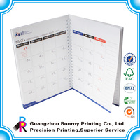 Cheapest Guangzhou supplier monthly notepad with calendar