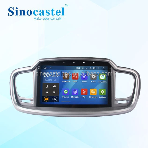 Factory High Quality 2 DIN 10.1 inch HD Touch Screen Android 5.1.1 Car DVD Player With GPS for Sorento 2016