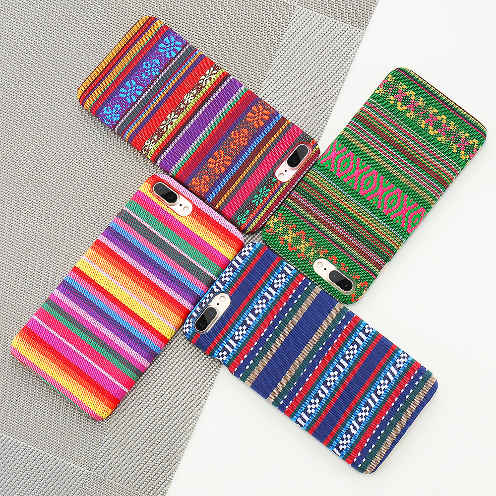 Bohemian Style Phone Case For iPhone 6 6S 7 Plus 5 5S SE Exotic Folk Traditional Cloth Fabrics Back Cover For iPhone 6 i 7 Case (3)