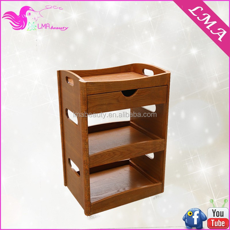 LMA spa club hotel wooden salon trolley for beauty instrument