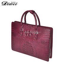 new stylish crocodile skin genuine leather briefcase for men