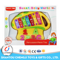Funny knocking piano plastic electric lovely xylophone music toy