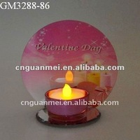 Valentine's Day decoration glass candle holder