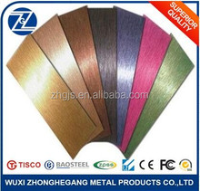 Factory Construction Decoration sus304 Colored Hairline Stainless Steel Plate/Sheet