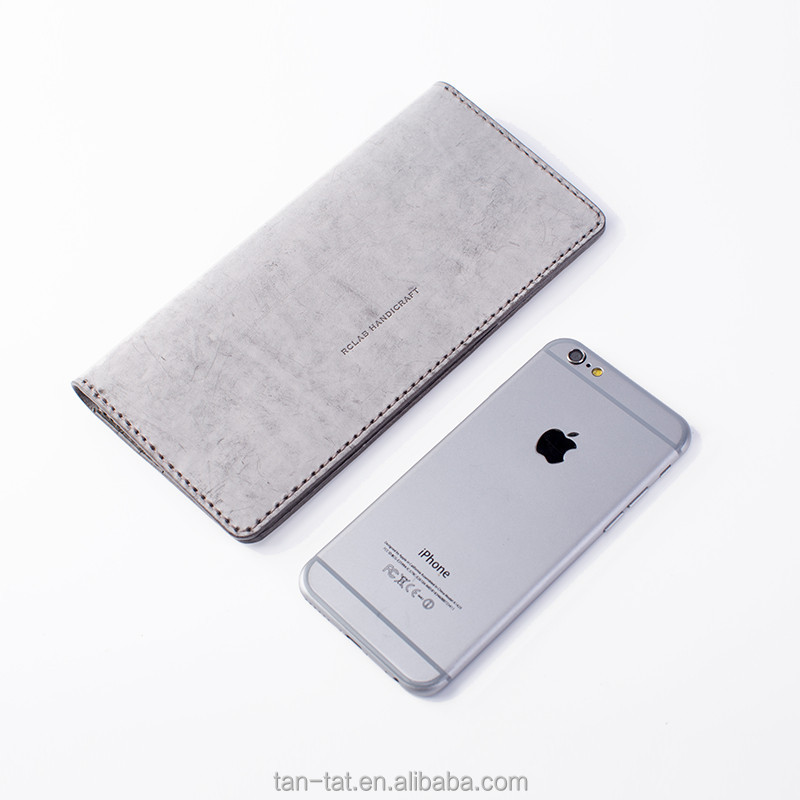 Iced Cow Leather Grey Women Wallets Clutch Purse