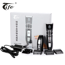 Professional high quality electric LED light rechargeable battery pet dog hair clipper trimmer China