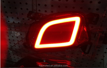 Car styling LED Rear Bumper Warning Lights Car Brake Light Running Lamp Whole Surface Glowing For Toyota Highlander 2015