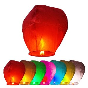 No Fire Customized Colorful No Flame Sky Lanterns