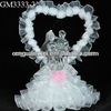 Wholesale heart-shaped LED wedding bride and groom figurines gift