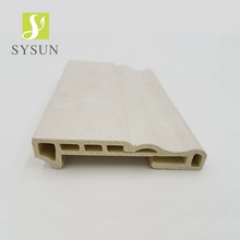New arrival cheap price indoor wall decoration pvc moulding line baseboard skirting board