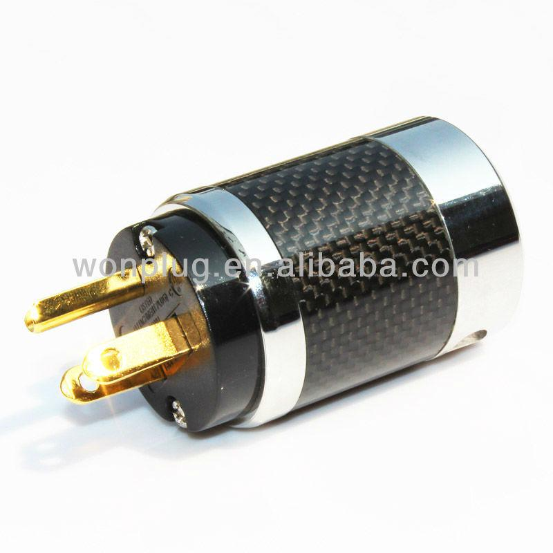 Audiocrast Carbon Fiber Power plug 24K Gold plated Power plug