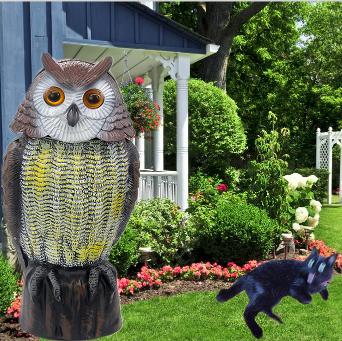 Wholesale garden owl shape scarecrow interested manufacturer bird scare kite
